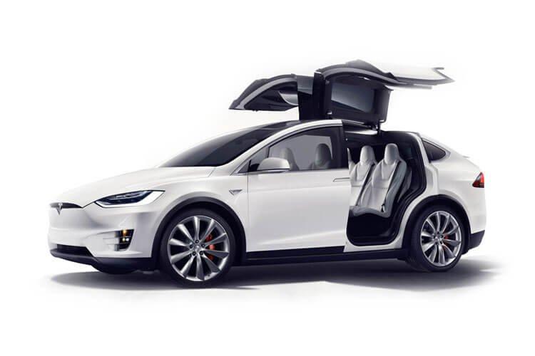 Tesla Model X rear doors open